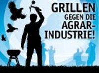 Hase trifft Tiger – Grill-Demo gegen die Agrarindustrie
