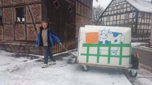 """Bio Bauer Otto läuft 450km in Holzschuhen zur """"Wir haben es satt!""""-Demo nach Berlin"""