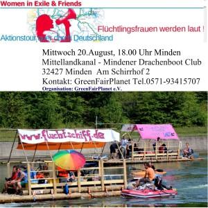 Aufruf Women in Exile in Minden