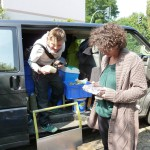 Lebensmittel werden von GreenFairPlanet abgeholt