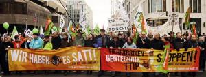 50 000 Menschen fordern den Stopp von Tierfabriken, Gentechnik und TTIP