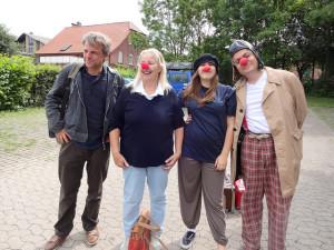Besuch vom Clown – Kindernachmittag in Flüchtlingsunterkunft
