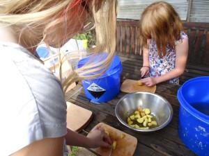 Gartenküche –  Vom Acker auf den Gartentisch