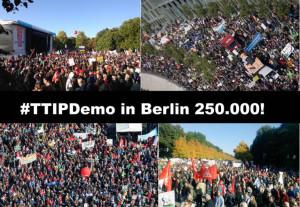 250.000  gegen TTIP und CETA in Berlin