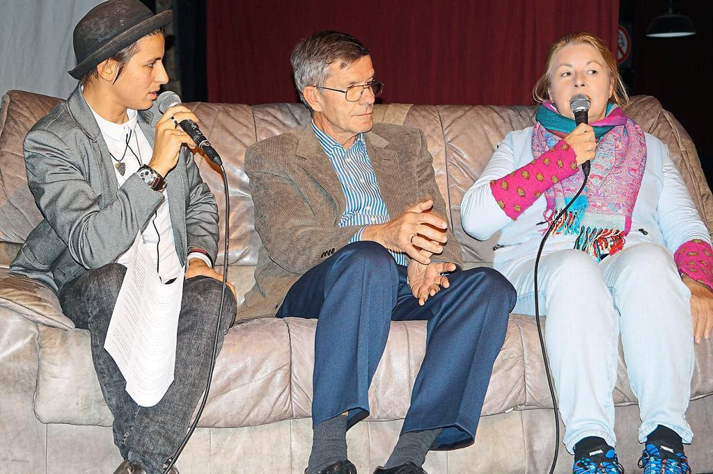 Romina Burgheim, Dr. Rüdiger Wittig, Elisabeth Schmelzer Foto: Klaus Möllers