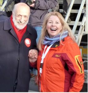 Slow Food Präsident Carlo Petrini und Elisabeth Schmelzer, Greenfairplanet