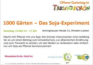 1000 Gärten – Soja Experiment